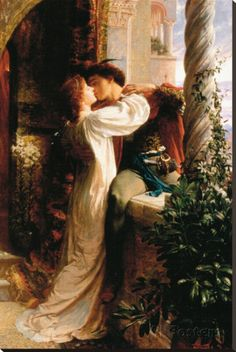 And Juliet Painting by Sir Frank Dicksee - Romeo And Juliet Fine Art Prints and Posters for Sale Classic Paintings, Old Paintings, Romantic Paintings, Rennaissance Art, Frank Dicksee, Renaissance Paintings, Classical Art, Old Art, Fine Art