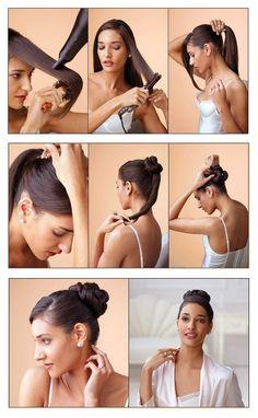 The Top Knot Hair Tutorial | hairstyles tutorial