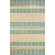 Strike up the look of your space with the Liora Manne Madison Stripe Indoor / Outdoor Rug . Clad in a coordinated combination of vertical and. Coastal Rugs, Coastal Decor, Ocean Rug, Brown Jordan, Wicker Patio Furniture, Bedroom Furniture, Striped Rug, Rug Sale, Indoor Outdoor Area Rugs