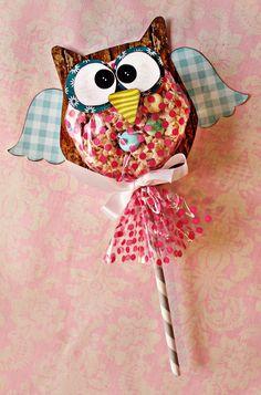 owl lolipops!