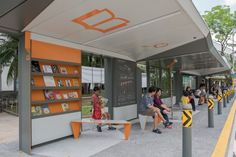 Singapore May Have Designed the World's Best Bus Stop  An architecture firm and the government collaborated on a bus stop with books, a rooftop garden, and a swing.