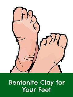 Using Bentonite clay to detox your feet. I like this simple method of putting clay on my feet, instead of taking a whole body mud bath in a spa.