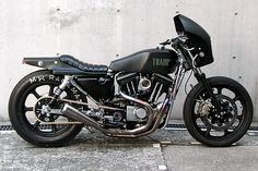 Tramp Cycle - Osaka based outfit specializing in Custom Harley Davidson parts. Specialty: cafe racers and rat bike aesthetics