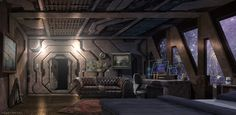 the captain\'s quarters by Alwyn Talbot   Sci-Fi   2D   CGSociety