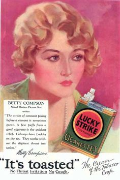 Betty Compson for Lucky Strike Cigarettes