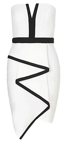 Liz Tiered Strapless Dress - White & Black from www.RawGlitter.com  TAKE 10% OFF ANY ITEM! USE CODE:  PINUP10  http://www.rawglitter.com/collections/new-arrivals/products/liz-tiered-strapless-dress-white-black