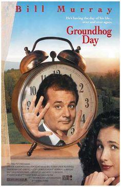 Groundhog Day Alarm Clock Bill Murray Movie Poster 11x17