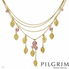 I checked out Majestic Necklace With Genuine Crystals Made of Yellow Base metal (PILGRIM SKANDERBORG, DENMARK) on Lish, $51.00 USD