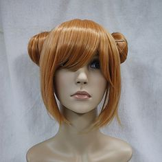 Japanese synthetic hair orange double bun anime cosplay costume girl wig 5178013 2017 – $31.27