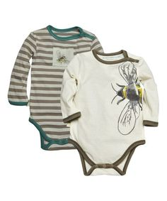 Another great find on #zulily! Mushroom Organic Bodysuit Set - Infant #zulilyfinds