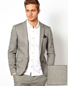 Grey Wool Blazer by Asos. Buy for $161 from Asos