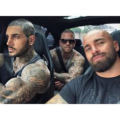 Strong Alone Unstoppable Together 💯 Hot Guys Tattoos, Sexy Tattoos, Tatoos, Sexy Tattooed Men, Bald With Beard, Shave My Head, Pose Reference Photo, Scruffy Men, Rugged Men