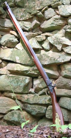 Left handed Kentucky Flintlock Muzzleloading Black Powder rifle.