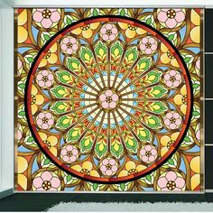 European vintage style decorative window glass film stained custom privacy sticker self adhesive/static cling wedding background(China (Mainland))