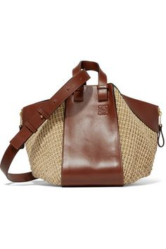 Dark-brown leather, beige raffia Open top Comes with dust bag Weighs approximately 4.4lbs/ 2kg Made in Spain