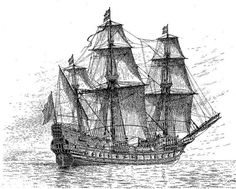 Easy Old Ship Drawing A drawing of the swedish