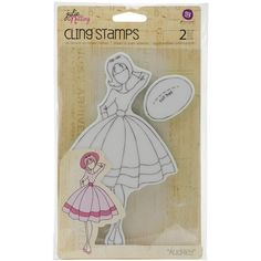 Prima Marketing Julie Nutting Mixed Media Cling Rubber Stamps-Audrey