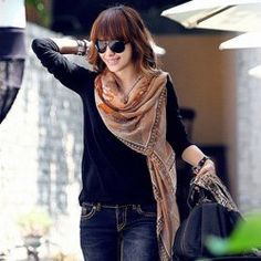 $5.78 Fashion Warm Color Printed Scarf For Women