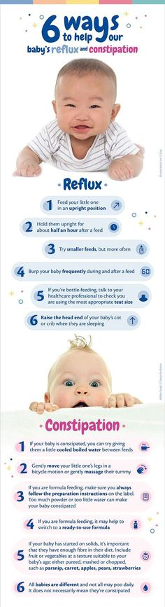 Has your baby ever had Reflux or Constipation? 6 ways to help your baby's Reflux and Constipation !