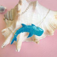 Whale Shark Necklace  Rhincodon Typus  Shark by KoholaKaiCreative