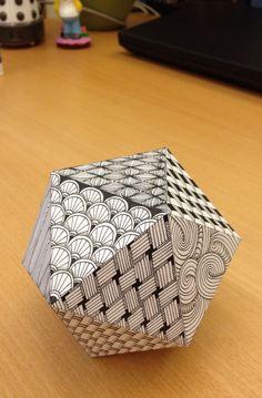 Zentangle: Icosahedron