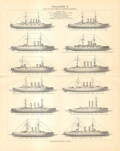 1906 Pre-дредноут линкоры оригинала CabinetOfTreasures