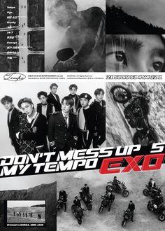 Exo full album Don't Mess Up My Tempo Teaser photo K Pop, Baekhyun, Park Chanyeol, Exo Album, Exo Official, Xiuchen, Thing 1, Entertainment, Exo Members