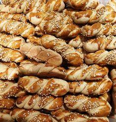 Greek Sweets, Greek Recipes, Sweet Desserts, Pretzel Bites, Biscotti, Cookie Recipes, Bakery, Food And Drink, Bread