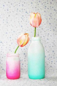 Ombré vases