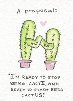 Valentine Language Arts Ideas: Cactus Plural Pun Is Hilarious
