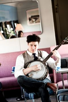 Marcus Mumford on the set of Big Easy Express. http://www.bigeasyexpress.com   Photo by Julie Ling