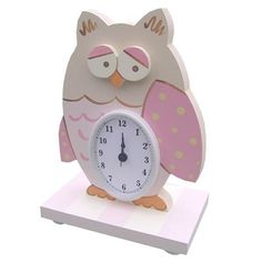 owl hand made wooden clock