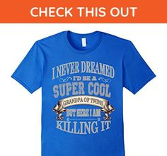 Mens I Never Dreamed I'd Be A Super Cool Grandpa Of Twins T-Shirt Small Royal Blue - Relatives and family shirts (*Amazon Partner-Link)