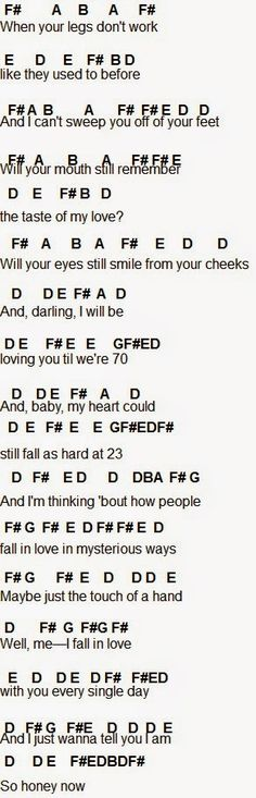 Flute Sheet Music: Thinking Out Loud
