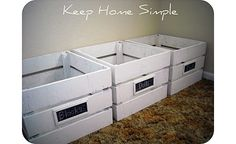 dyi crate ideas | PB Inspired Wooden Crates · Home and Garden | CraftGossip.com