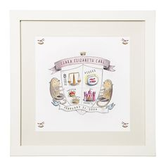 Coat of Arms - Personalized Birth Announcement | birth announcement, baby shield | UncommonGoods