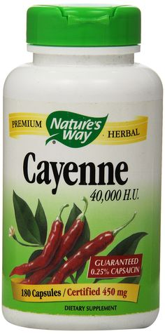 Cayenne Pepper Nature's Way 180 Caps, 450 mg