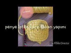 Penye sepet yapımı (kare sepet) - YouTube