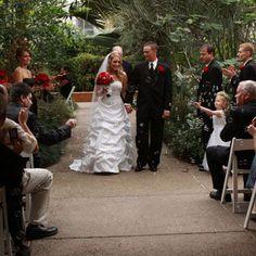 Conservatory wedding at Matthaei Botanical Gardens. Ann Arbor.