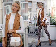 Get this look: http://lb.nu/look/7808736  More looks by Janine: http://lb.nu/joliejanine  Items in this look:  Topshop Sleeveless Blazer, Topshop Cigarette Pants   #chic #elegant #formal #autmn #classy #topshop #london