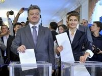 "The polls closed in Ukraine, and ""Chocolate King"" Petro Poroshenko is on top of the exit polls with 56% of the votes."