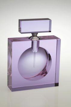 Purple+Glass+Perfume+Bottle | Large Square Purple Perfume Bottle - H@ME Interiors (Stansted, Essex ...