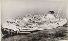 July 25, 1956 – The Italian ocean liner SS Andrea Doria sinks after colliding with the Swedish ship SS Stockholm in heavy fog, killing 51