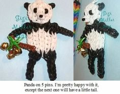 PANDA on 2 Rainbow Looms.
