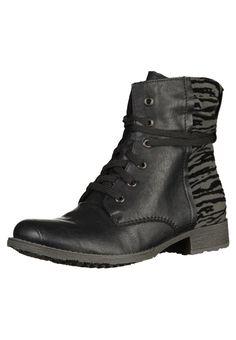 Rieker Schnürstiefelette - black grey für € versandkostenfrei bei Zalando  bestellen. 226d50eba7