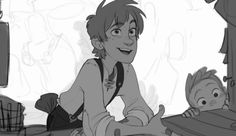 It kinda looks like Hiccup from HTTYD