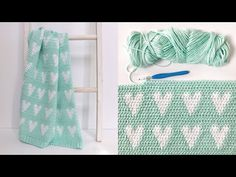 Daisy Farm Crafts This Modern Hearts Baby Blanket is made in the same way that we usually make our gingham blankets, by using… Crochet Heart Blanket, Hand Knit Blanket, Crochet Blanket Patterns, Crochet Baby, Crochet Blankets, Learn Crochet, Farm Crafts, Diy Crafts, Tapestry Crochet