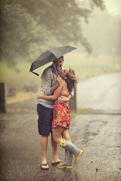 Na rua, na chuva...