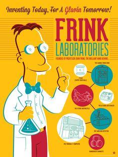 18 x 24, Frink Laboratories by Dave Perillo, L/E run of 250 - $50