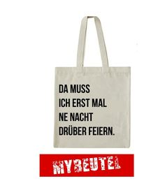 Feiern Jutebeutel // tote bag with typo print by MyBeutel via DaWanda.com